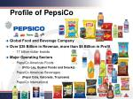 profile of pepsico