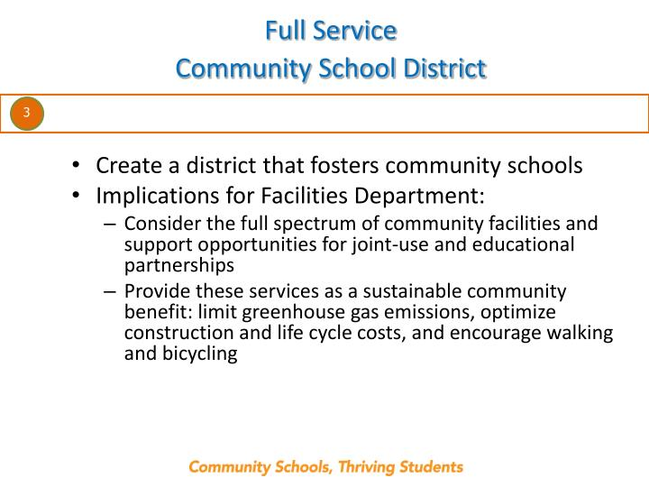 Full service community school district