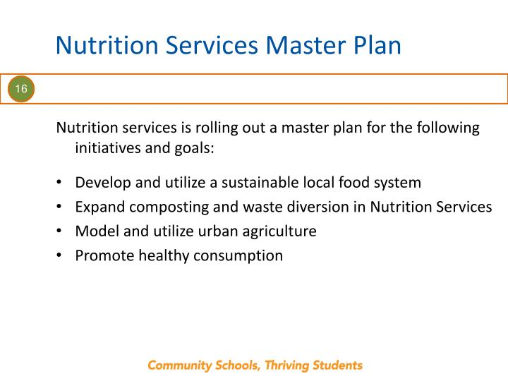 Nutrition Services Master Plan