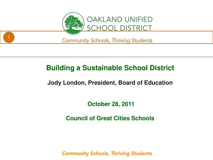 Building a Sustainable School District