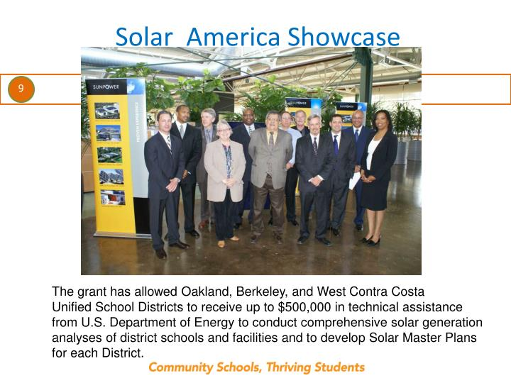 Solar  America Showcase