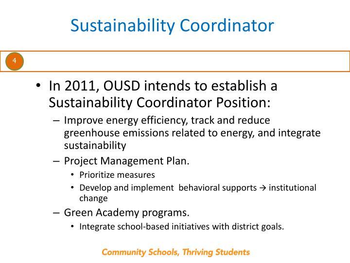 Sustainability Coordinator