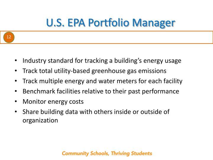 U.S. EPA Portfolio Manager