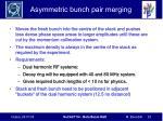 asymmetric bunch pair merging
