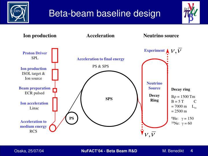 Beta-beam baseline design