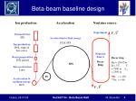 beta beam baseline design