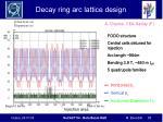 decay ring arc lattice design