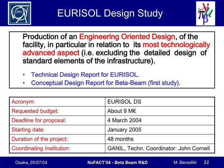 EURISOL Design Study