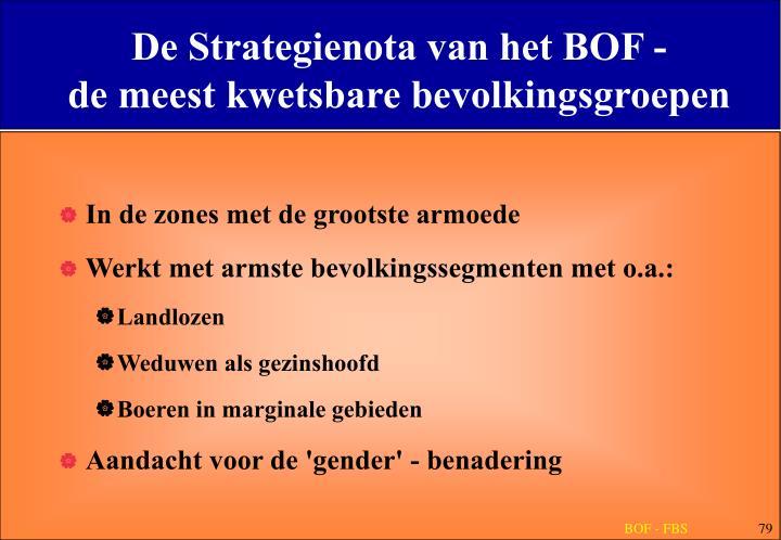 De Strategienota van het BOF -