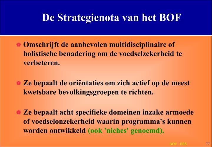 De Strategienota van het BOF