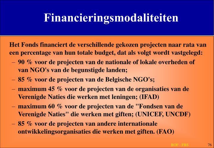 Financieringsmodaliteiten