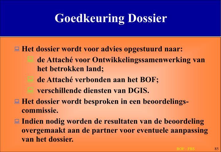 Goedkeuring Dossier