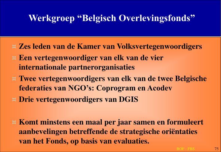 """Werkgroep """"Belgisch Overlevingsfonds"""""""