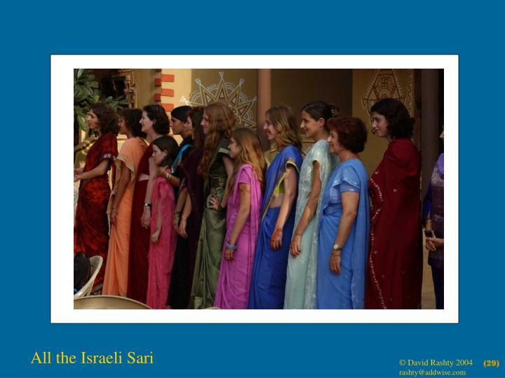 All the Israeli Sari