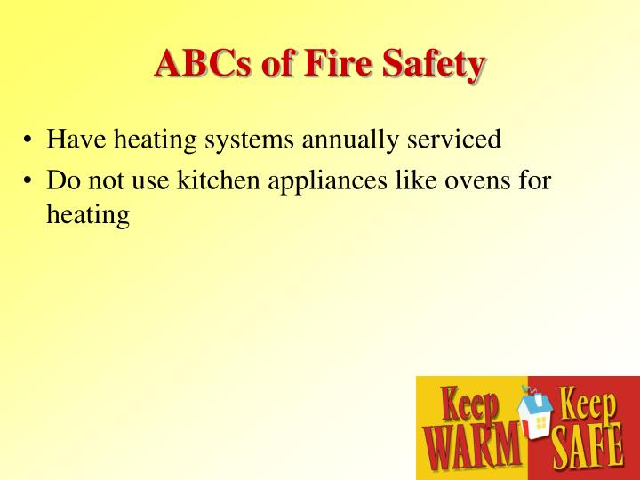 ABCs of Fire Safety