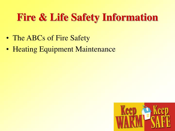 Fire & Life Safety Information