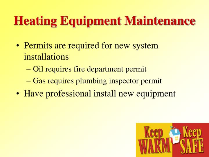 Heating Equipment Maintenance