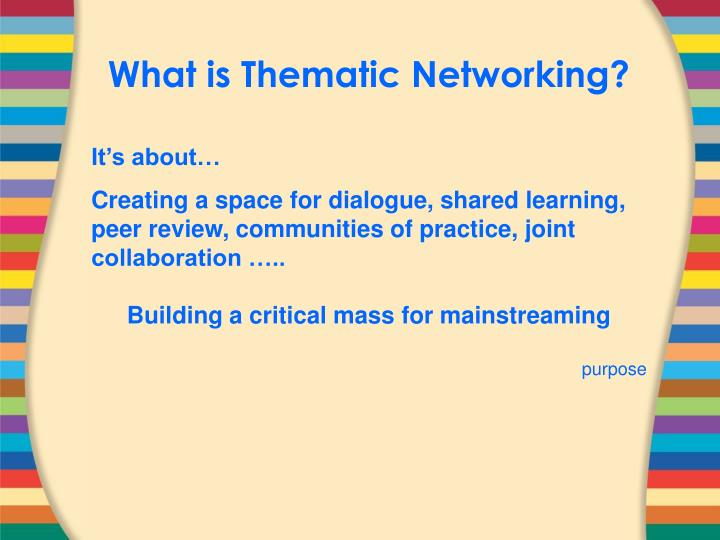 What is Thematic Networking?
