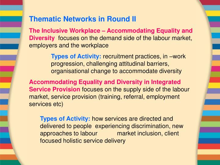 Thematic Networks in Round II