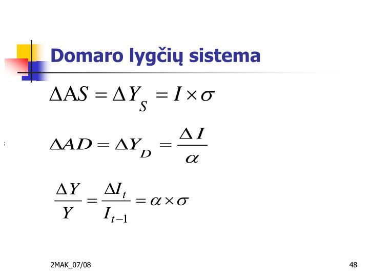Domaro lygčių sistema
