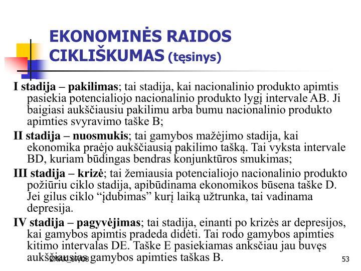 EKONOMINĖS RAIDOS CIKLIŠKUMAS
