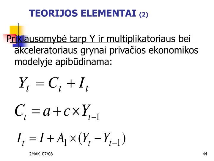 TEORIJOS ELEMENTAI
