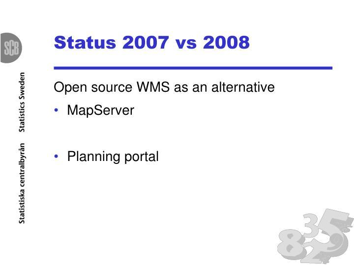 Status 2007 vs 2008