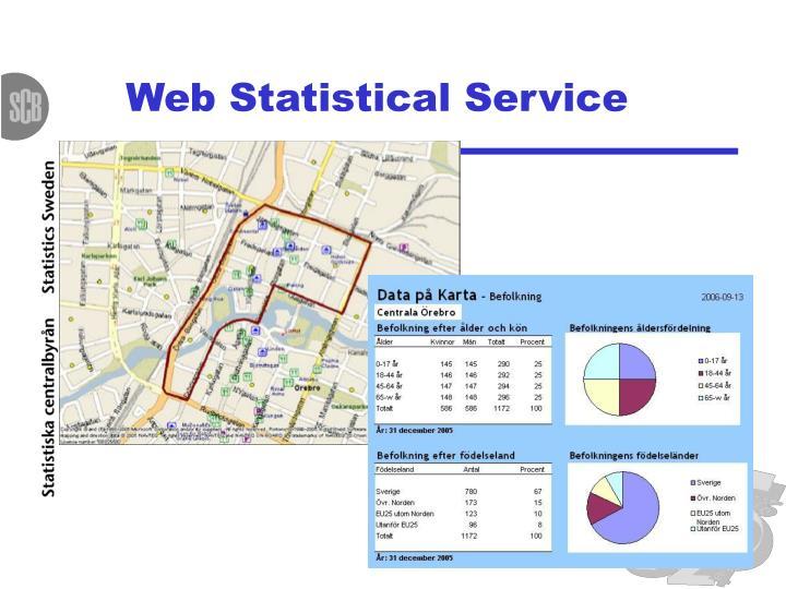 Web Statistical Service