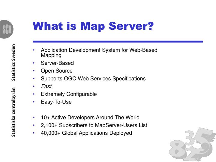 What is Map Server?