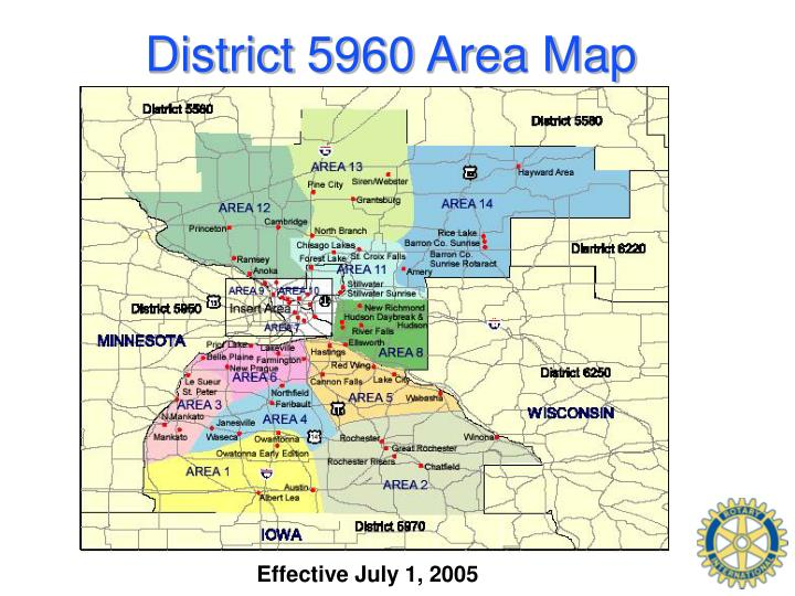 District 5960 Area Map