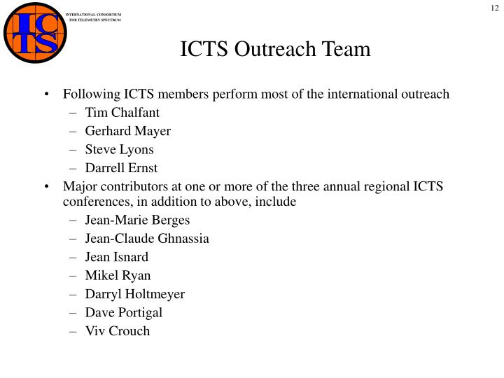 ICTS Outreach Team