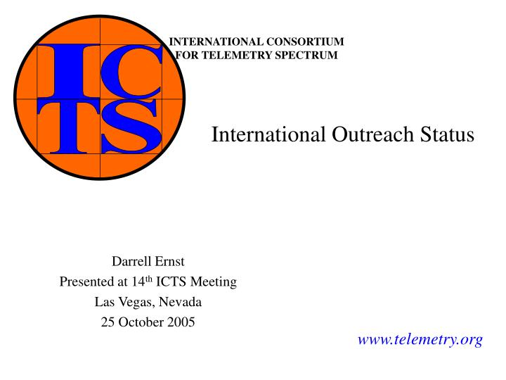 International outreach status