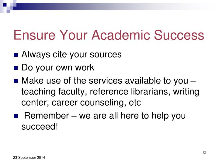 Ensure Your Academic Success
