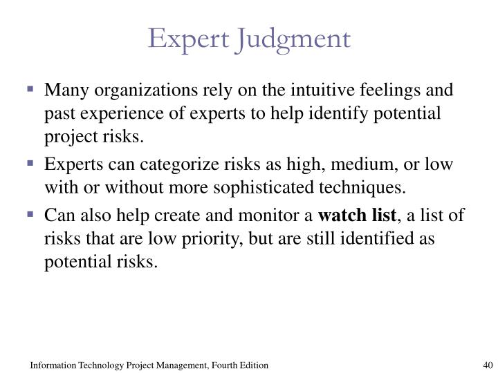 Expert Judgment