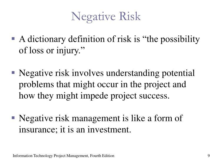 Negative Risk