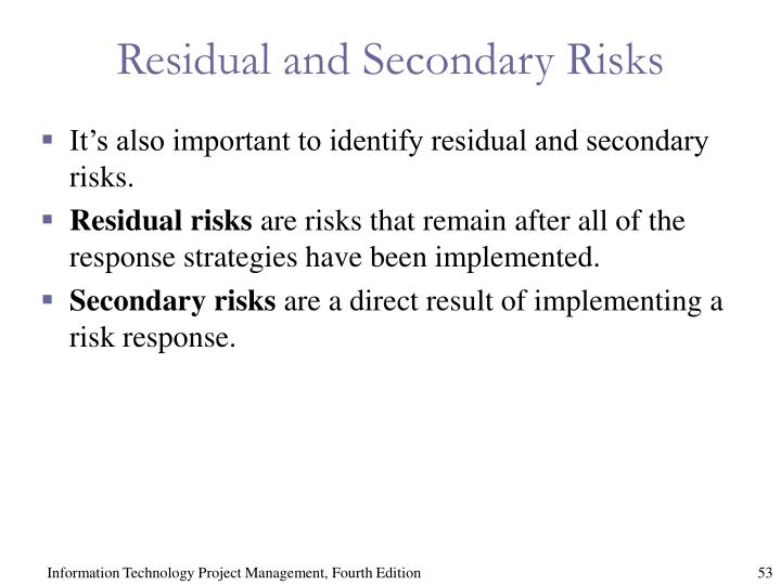 Residual and Secondary Risks