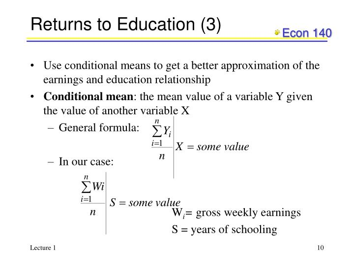 Returns to Education (3)