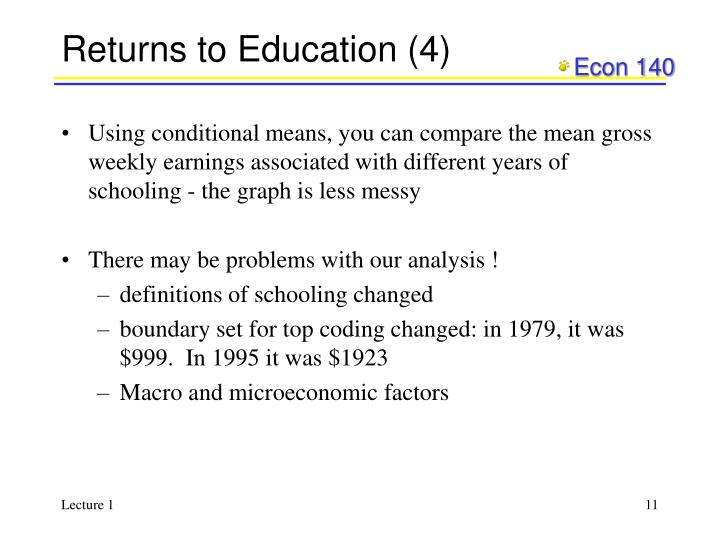 Returns to Education (4)