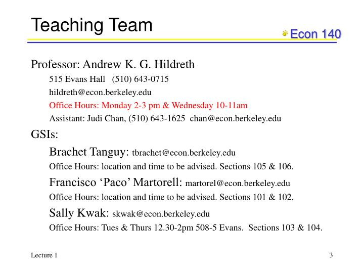 Teaching team
