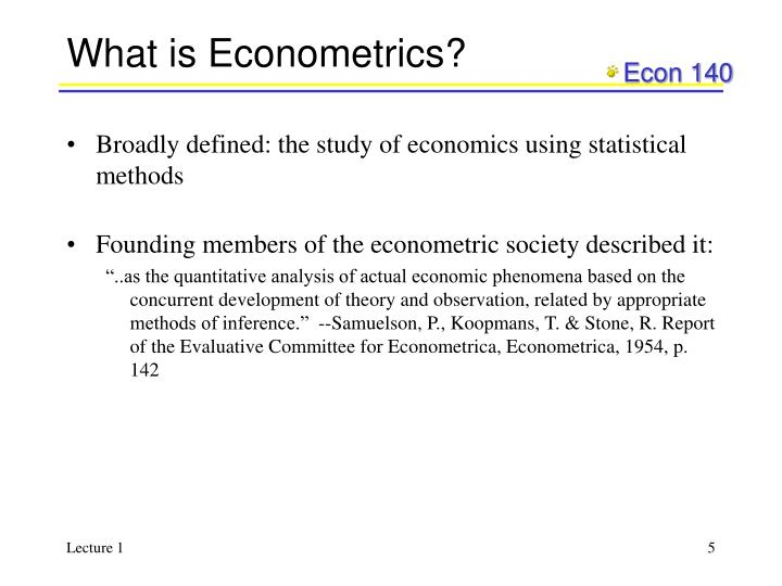 What is Econometrics?