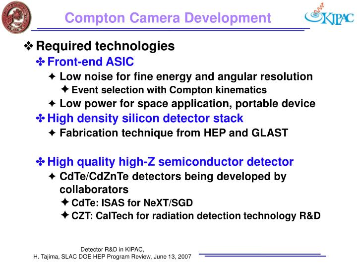 Compton Camera Development