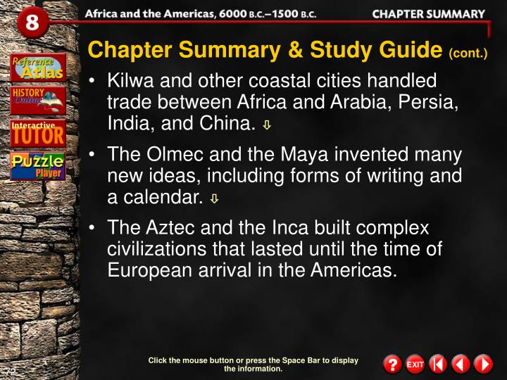 Chapter Summary & Study Guide