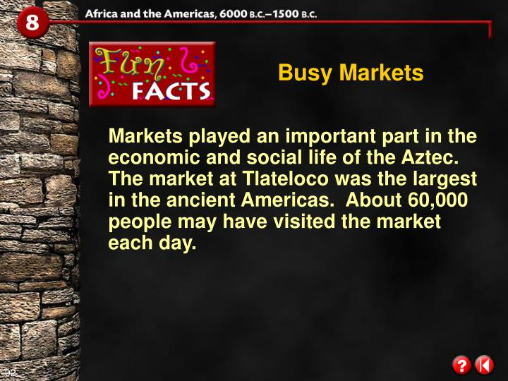 Busy Markets