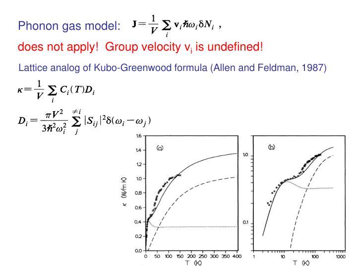 Phonon gas model: