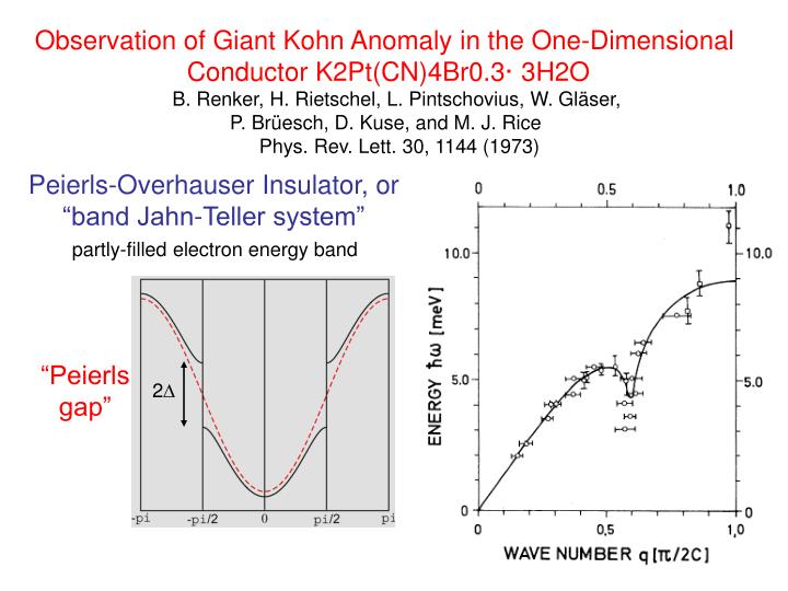 Observation of Giant Kohn Anomaly in the One-Dimensional