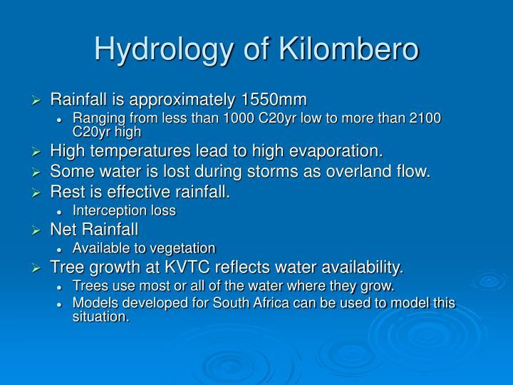 Hydrology of Kilombero