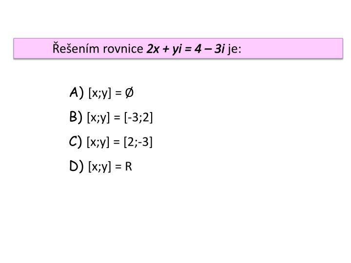 Řešením rovnice