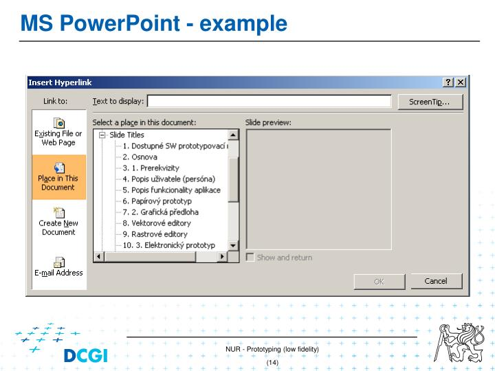 MS PowerPoint -