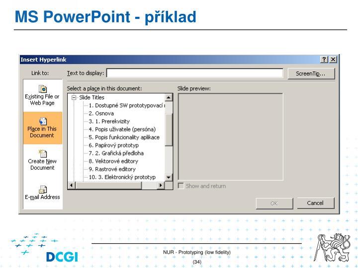 MS PowerPoint - příklad