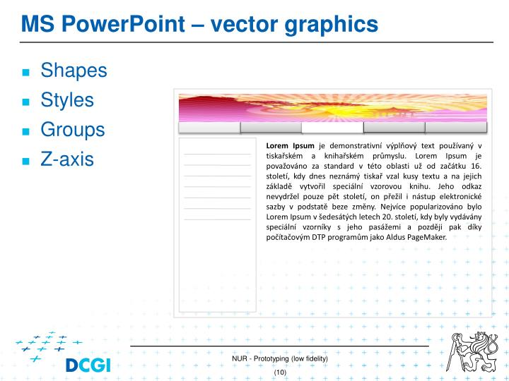 MS PowerPoint –